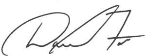 Dave Foss signature
